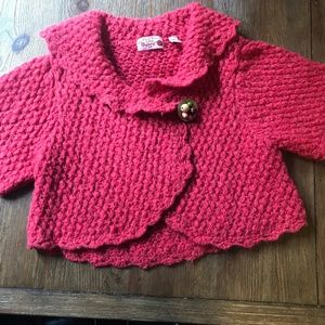 Anthropologie Hand Knit by Dollie Shrug Sweater